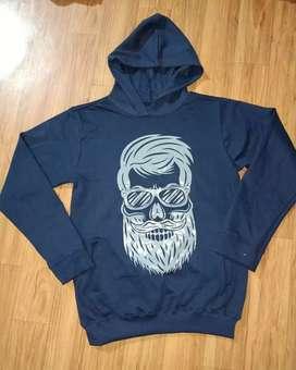 Mens branded loop knit hoodie sweatshirt