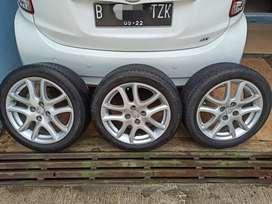 Velg oem Mazda2 16x6,5 pcd 4x100 plus ban Turanza 195/50 R16