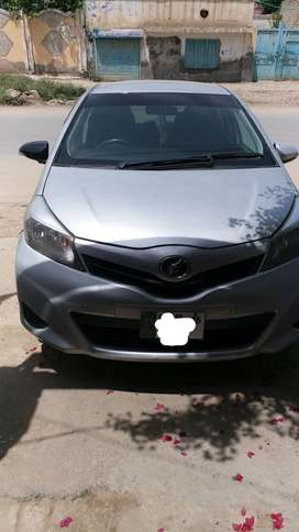 toyota Vitz 1000cc, silver color, Model 2012, Registration 2016.