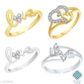 Women Trendy love rings (₹ 600/- )