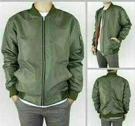 Jaket bomber hijau army