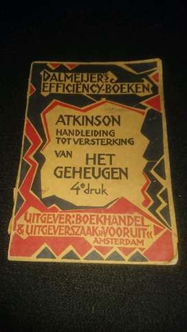 Buku Psychology Belanda Antik thn 1912