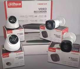 Paket CCTV DAHUA 2MP 4 Kamera + Pemasangan Garansi 1Tahun Original