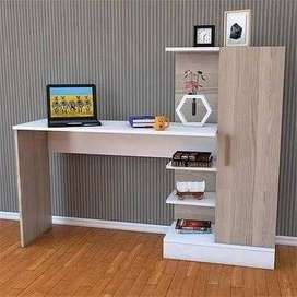 Table for gaming study writing computer desk book shelf home office
