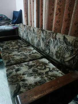 Sofa in good condition with new modal center glass table low price