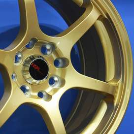 Velg/Pelek Mobil HSR - MISAKI H208 Ring16x7 Lubang8 GOLD