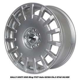 Velg racing toyota Vios RALLY H1071 HSR R17X7 H8X100-114,3 ET45 SILVER