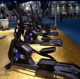 Gym equipment trademill spin bike n cross trainer