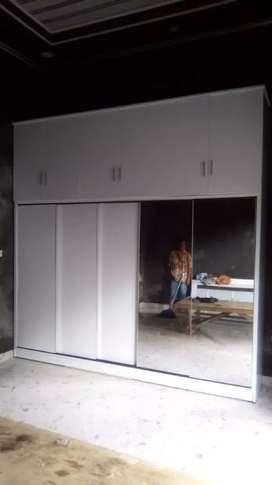 Lemari pakaian custom minimalis pintu 5 sleding Jumbo