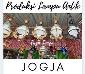 Produksi Lampu Gantung Katrol Antik Klasik Hias Cafe Joglo Gasebo