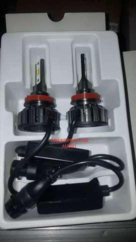 1set lampu led h11 tiga warna 80watts buat lampu foglamp dan head lamp