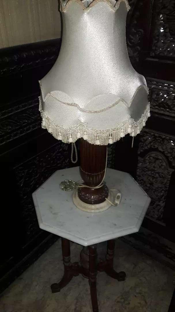 Lampu dan Meja Jati Marmer 0