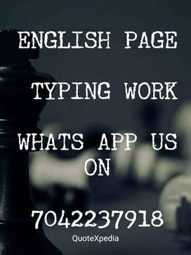typing work available for home based available