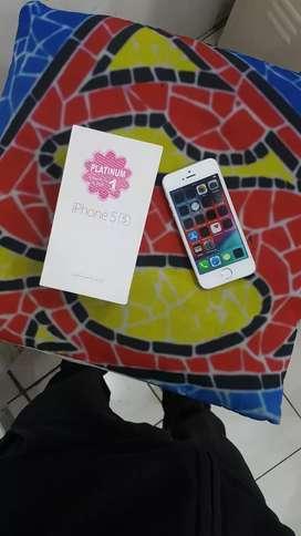 Jual cepet iphone 5s 32gb ex distri mulus  fullset rose gold