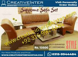 Sofa Office Home 5 seater wholesale sofa bed set chair table