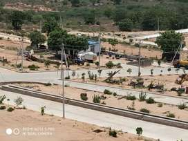 Open flat for sale hmda  bank loan available Warangal Highway facing