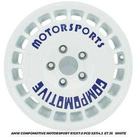Jual Velg Innova Luxio Ertiga APV AMW Compomotive R15x7 5x114.3 ET35