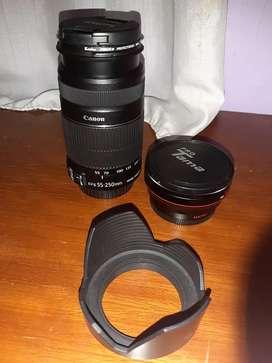 Lensa kamera canon macro ef-s 50-250MM