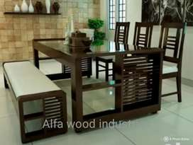Wooden dining set available factory direct