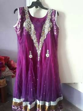 """Anarkali suit with ankle length 5""""2"""