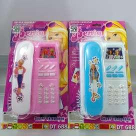 Mainan Telephone Barbie DT-688 / Handphone Barbie / Mainan HP Anak
