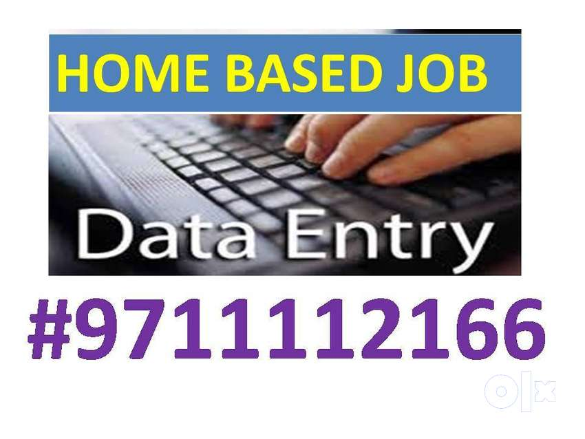 Simple DATA ENTRY work Part time HOME BASE job EARN 4500 to 8000/- 0