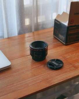 Lensa Fix Canon Yongnuo 50mm F1.8 II Mark Murah Minus