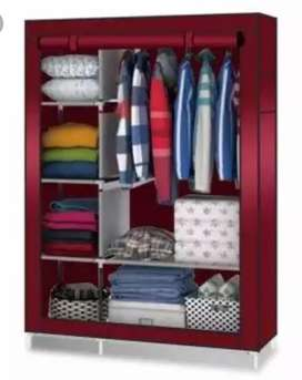2 Door Storage Wardrobe Foldable and Movable Cloth/Fabric Wardrobe