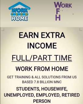 Work from home part time & full time