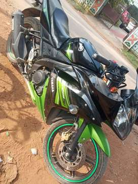 Yamaha r15 black green