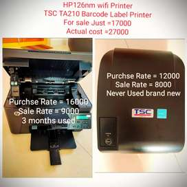 Brand New Hp All in one printer & Barcode! Label printer for sale