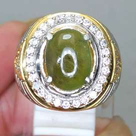 Cincin Batu Green Safir Warna Hijau Asli Natural