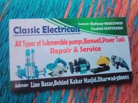 Power tools motor rivayding water pump submersible pumpset repair