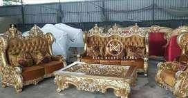 Sofa set custom model raja dengan meja gajah