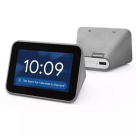 Sealed packed Lenevo smart clock with smart sensors through just voice