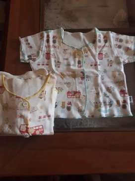 Baju baby tangan pendek merk ANGELA ANGELOS ½ lusin