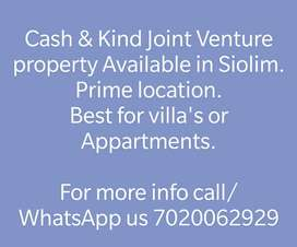 Cash & Kind JV plots available in Siolim marna.main road.