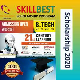 100% scholarship for engineering, managment,Pharma, nursing and others