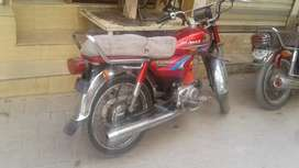 Honda cd 70  Bike one hand used clean and pure condition red color