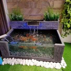 Kolam ikan koi modern/kolam ikan minimalis