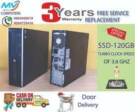 hp-4gb ram+cpu-i5 3rd gen/hdd 500GB@warranty-Replacement*computer/ssd