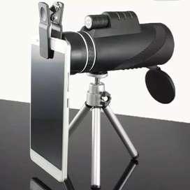 Teropong monokular smartphone with tripod zoom sampai 40x