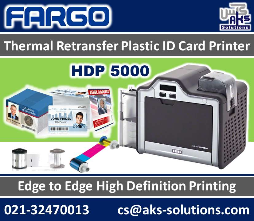 HID - Fargo HDP 5000 - High Definition PVC ID Card Printer 0