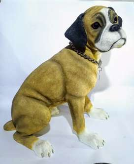 Dog lover's , sculpture of boxer dog