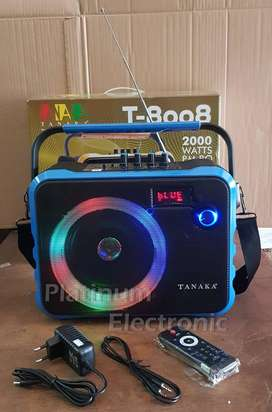 Speaker Aktif Portable TANAKA T-8008 Bluetooth USB SD Card FM Radio