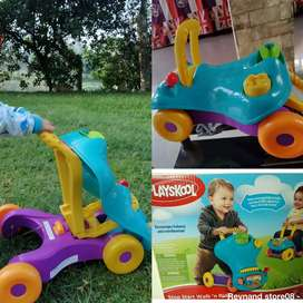 Push walker and ride baby second