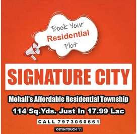 114 Gaj Residential Plot For Sale in Signature City Mohali