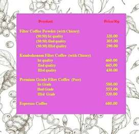 Coffee for Cafe/Coffee shop/Restaurant/Hotels/Resorts/Guest House