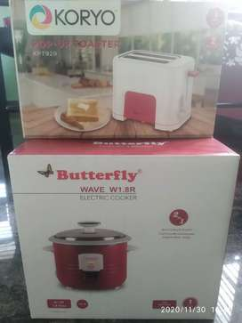 Butterfly Coocker and bread toaster