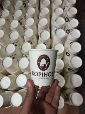 Hot paper 12 oz (hot coffee) ++ sablon logo